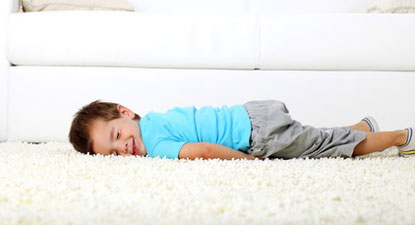 baby loving clean safe carpet