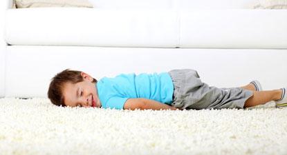 baby loving clean safe carpet