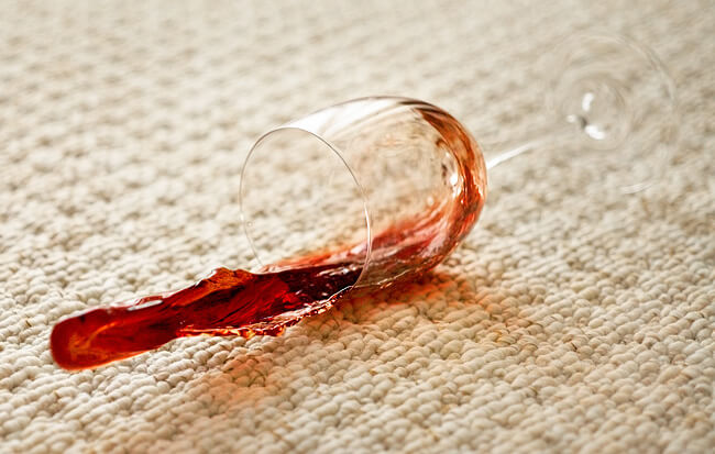 wine spill spot carpet