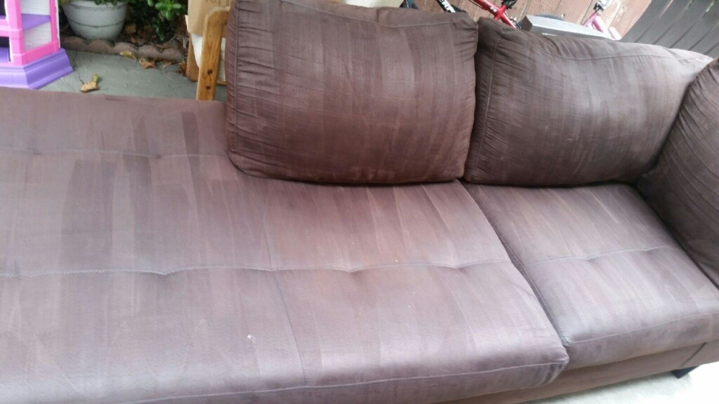 after upholstery cleaning